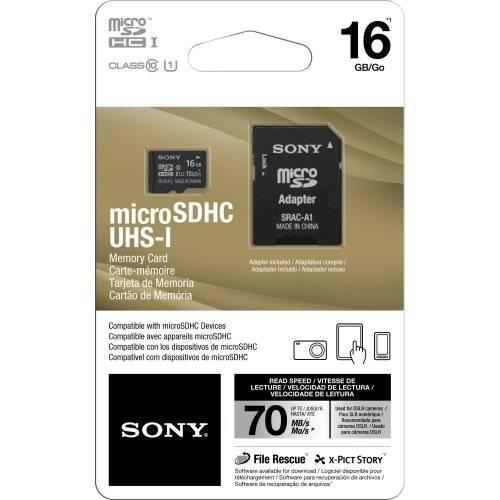 Cartão de Memória 16gb Micro Sdhc com Adaptador Srac-A1 Classe 10 Sony