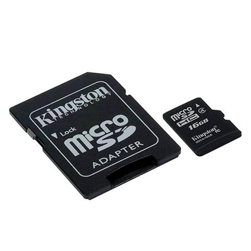 Cartão de Memória 16GB MicroSD + Adaptador SDC4/16GB - Kingston