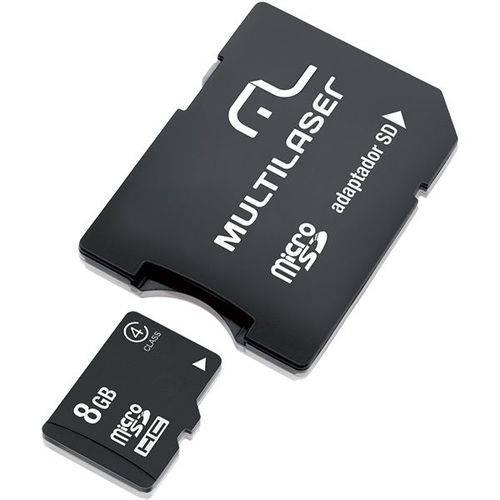 Cartao de Memoria 8gb Mc004 C/adap Sd Multilaser