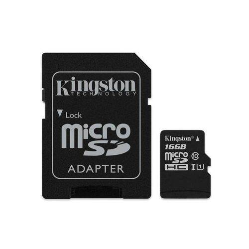 Cartao de Memoria Classe 10 Kingston Sdc10g2/16gb Micro Sdhc 16gb com Adaptador Sd