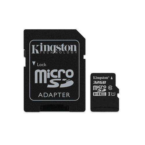 Cartao de Memoria Classe 10 Kingston Sdc10g2/32gb Micro Sdhc 32g