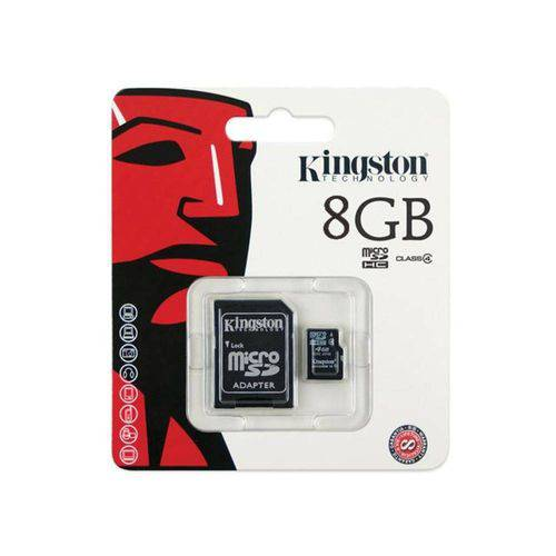 Cartao de Memoria Classe 4 Kingston Sdc4/8gb Micro Sd 8gb com Adaptador Sd