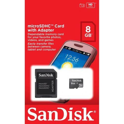 Cartão de Memoria Micro Sd 8gb Sandisk