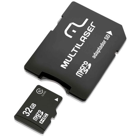 Cartão de Memória MicroSD 32GB com Adaptador para SD - Multilaser