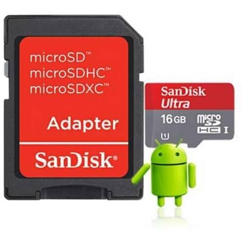Cartão de Memória Sandisk Micro Sd Ultra Adaptador 16gb