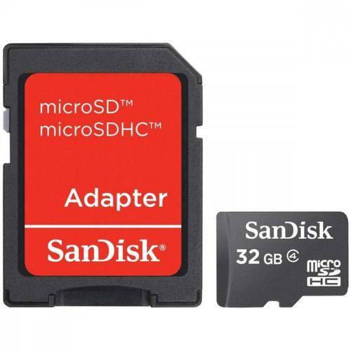Cartão de Memória SanDisk MicroSDHC C/ Adap.32GB SDSDQN-032G