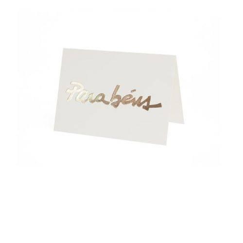 Cartão Fabriano Parabéns Creme Teca