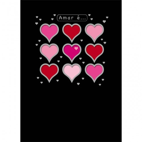 Cartão Handmade Beauty Amor Estampa Amar É... - Grafon's