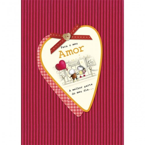 Cartão Handmade Beauty Amor Estampa Coração Xadrez- Grafon's