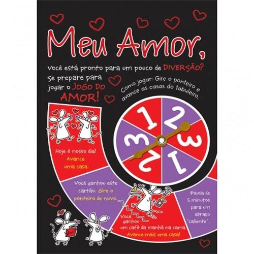 Cartão Handmade Beauty Amor Estampa Jogo do Amor- Grafon's