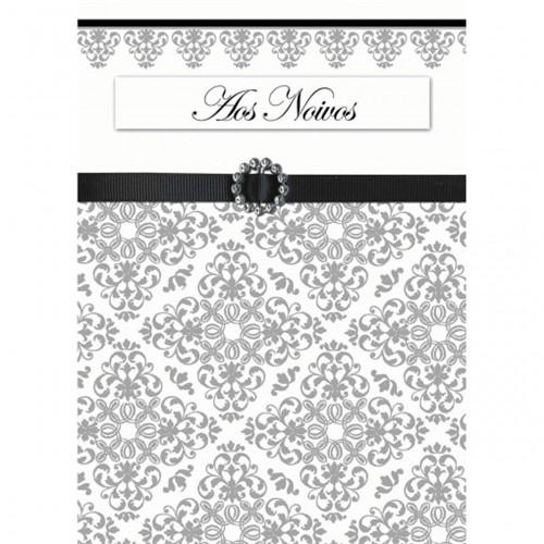 Cartão Handmade Beauty Casamento Estampa Aos Noivos - Grafon's
