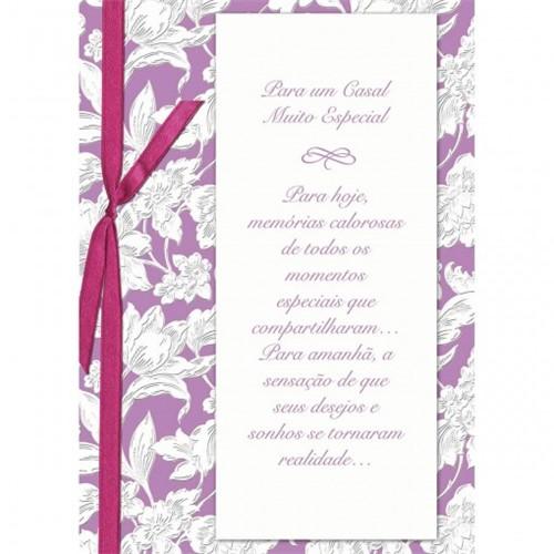 Cartão Handmade Beauty Casamento Estampa Casal Especial Flores- Grafon's