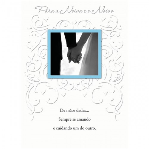 Cartão Handmade Beauty Casamento Estampa para Noivo e Noiva - Grafon's