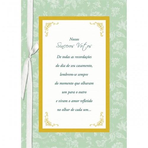 Cartão Handmade Beauty Casamento Estampa Sinceros Votos- Grafon's