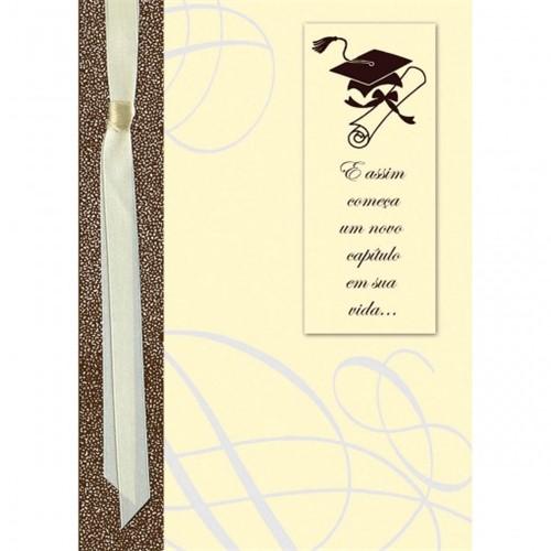 Cartão Handmade Beauty Formatura Estampa Diploma - Grafon's