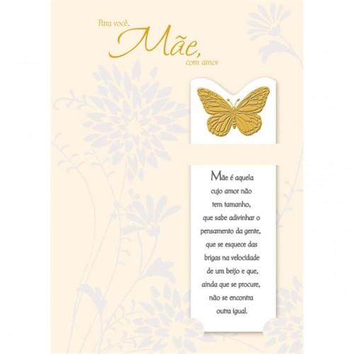Cartão Handmade Beauty Mães Estampa Borboleta - Grafon's