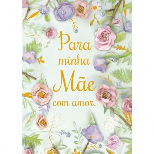 Cartão Handmade Beauty Mães Estampa Flores para Mãe- Grafon's