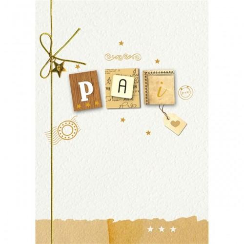 Cartão Handmade Beauty Pais Estampa Pai Carta- Grafon's