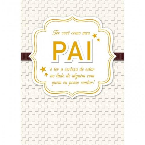 Cartão Handmade Beauty Pais Estampa Pai Dourado- Grafon's