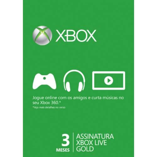 Cartao Live Gold 3 Meses Xbox