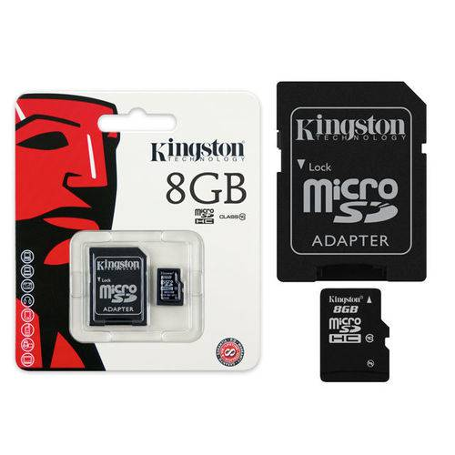 Cartao Micro Sd Kingston 8gb