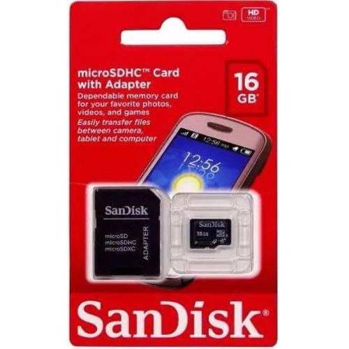 Cartao Micro Sd Sandisk 16gb