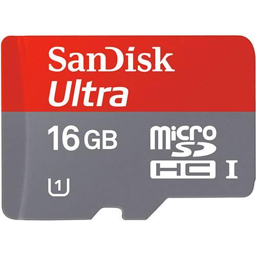 Cartão Micro SD Ultra Classe 10 com Adapt para Android 16GB - SanDisk