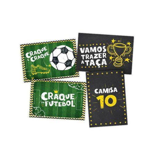 Cartaz Decorativo Futebol 4 Unidades