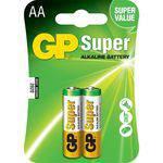 Cartela com 2 Unidades Pilhas Super Alcalinas Aa Gp 1.5v