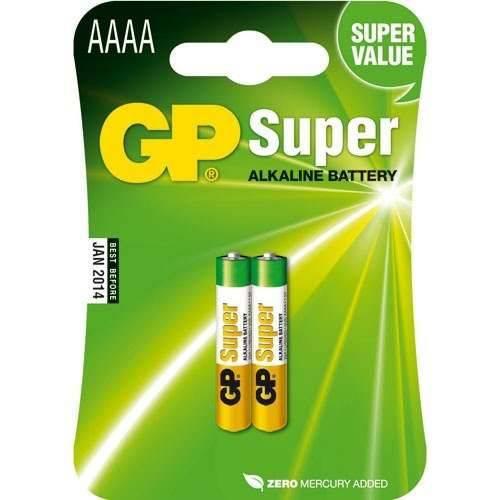 Cartela com 2 Unidades Pilhas Super Alcalinas Aaaa Gp 1.5v