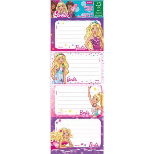 Cartela de Etiquetas Adesiva 16 Un Barbie Foroni