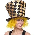 Cartola Dourada com Cabelo Amarelo - Sulamericana Fantasias