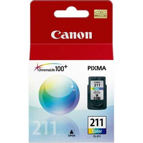 Cartucho Canon Cl-211 Jato de Tinta Color 9ml - Cl-211