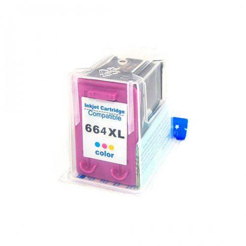 Cartucho Compatível Hp 664 Xl Colorido