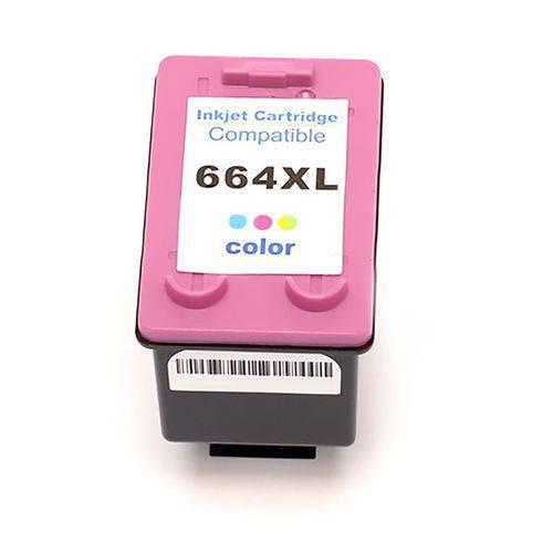 Cartucho Compatível Hp 664XL Colorido