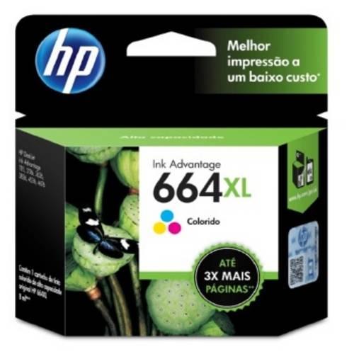 Cartucho de Tinta 664xl Colorido F6v30ab - Hp