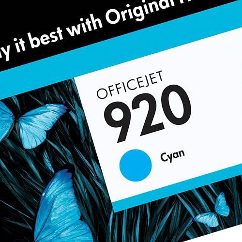 Cartucho de Tinta CD972AL HP920 Ciano - HP