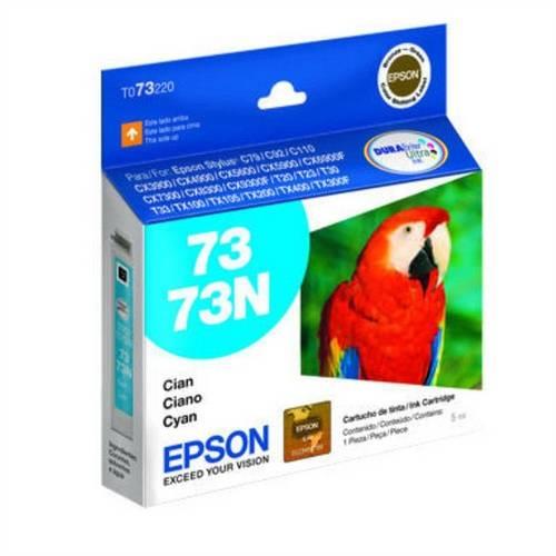 Cartucho de Tinta Ciano 73 73n T073220 Br Epson