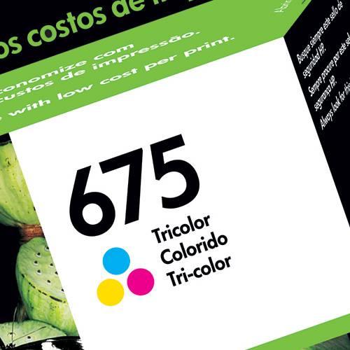Cartucho de Tinta CN691AL HP675 Tricolor - HP