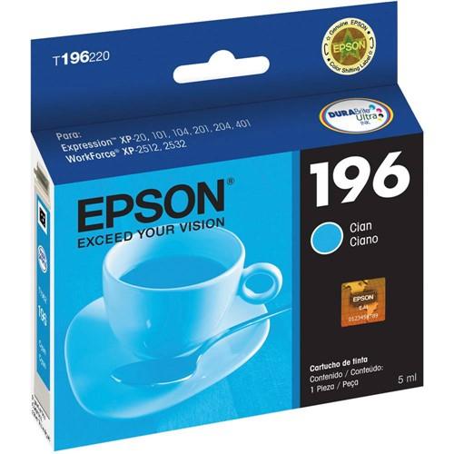 Cartucho de Tinta Epson T196220 Ciano