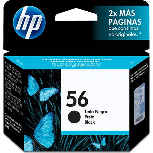 Cartucho HP56 Preto C6656AB - HP
