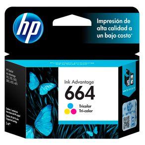 Cartucho de Tinta HP 664 F6V28AB HP 2,0 ML Tricolor