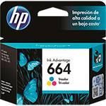 Cartucho de Tinta HP 664 Tricolor F6V28AB - Original