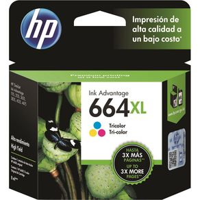 Cartucho de Tinta HP 664XL F6V30AB 8,0 ML Tricolor