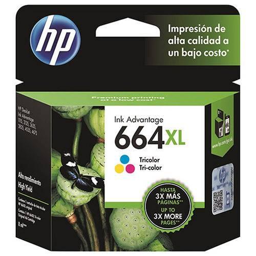 Cartucho de Tinta HP 664XL F6V30AB Tricolor 8ML