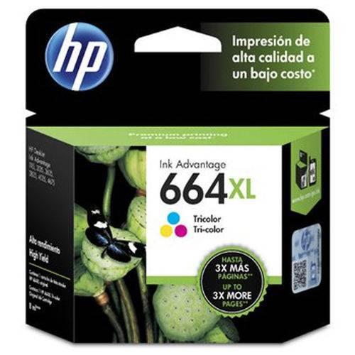 Cartucho de Tinta Hp 664xl (f6v30al) Color