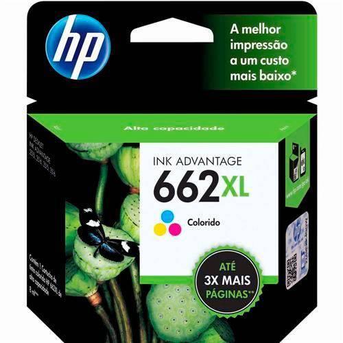 Cartucho de Tinta Hp 662xl Colorido Cz106ab