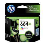 Cartucho de Tinta Hp Ink Advantage 664xl Alto Rendimentotricolor - F6v30ab