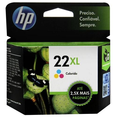 Cartucho de Tinta HP 22XL Tricolor - C9352CL/CB