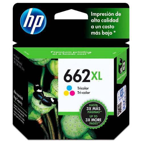 Cartucho de Tinta Ink Advantage Hp Suprimentos Cz106ab Hp 662xl Tricolor 8,0 Ml